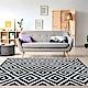 Ambience 比利時Shiraz地毯-黑與白(格紋 160x230cm) product thumbnail 1