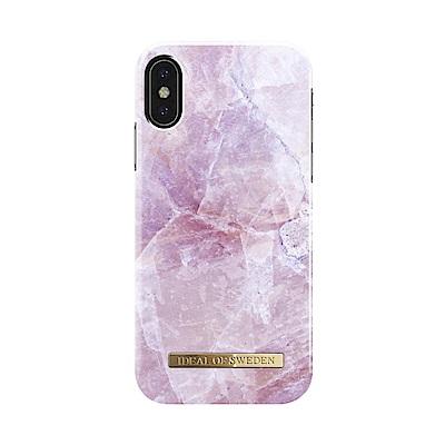 iDeal iPhone X/XS 瑞典大理石紋手機保護殼-希臘皮立翁粉石