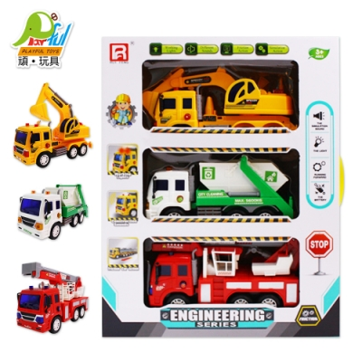 Playful Toys 頑玩具 3款慣性工程車