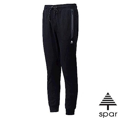 SPAR 女新款 彈性時尚束口運動長褲_黑色