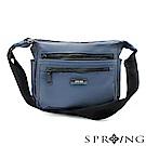 SPRING-微光澤輕量側背包-質感藍