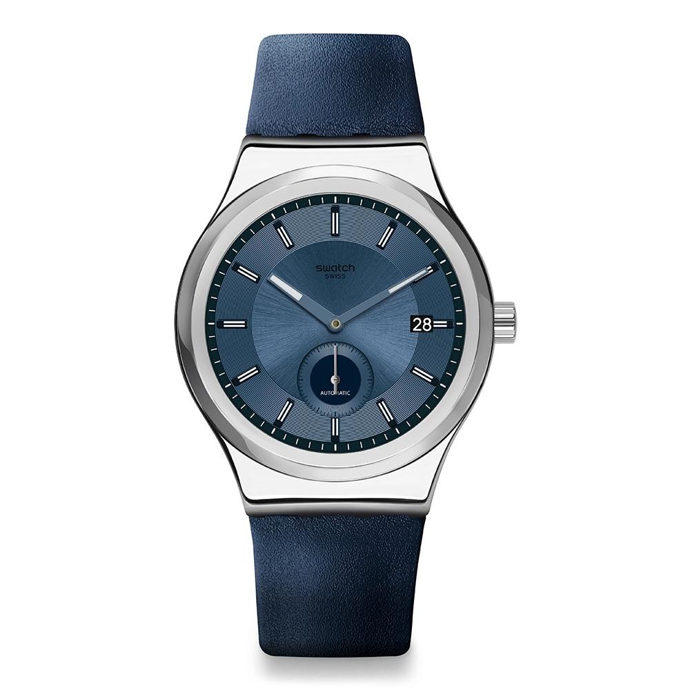 Swatch 51號星球機械錶 PETITE SECONDE BLUE 小秒針-藍色-42mm
