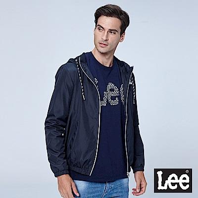 Lee 連帽風衣外套-黑色