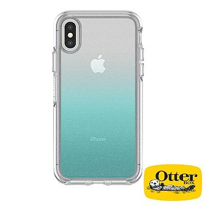 OtterBox iPhoneX炫彩幾何透明保護殼-漸層透藍