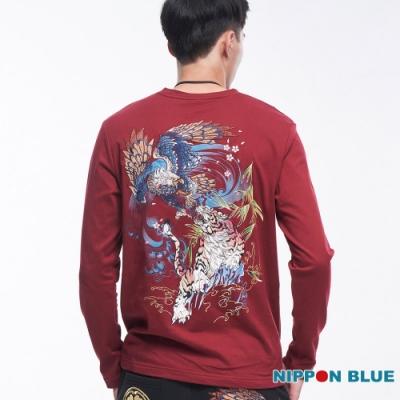 日本藍 BLUE WAY-進口金標-日本藍虎鷹鬥長TEE(紅)