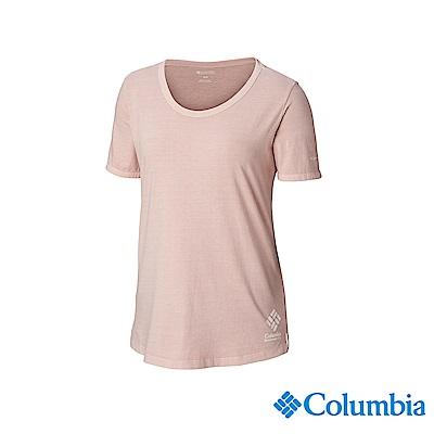 Columbia 哥倫比亞 女款-純棉短袖上衣-粉紅 UAL25600PK