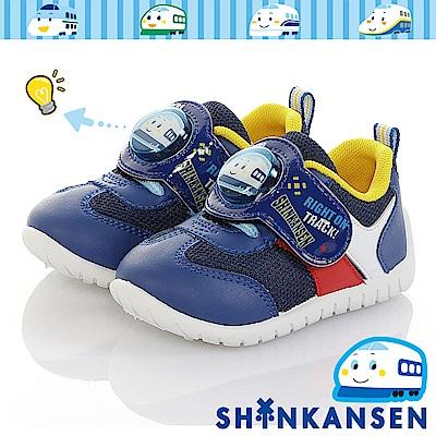 三麗鷗 新幹線童鞋 電燈鞋 透氣輕量抗菌防臭休閒鞋-藍
