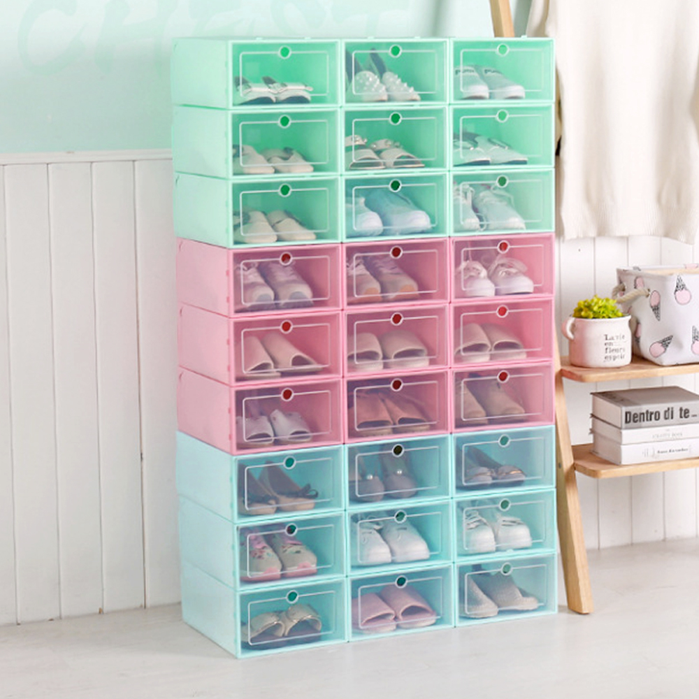 可掀式可視加大加寬收納鞋盒6入組