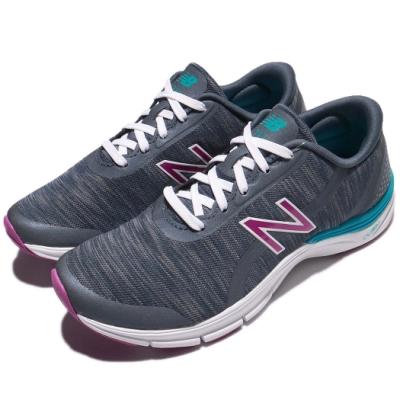 New Balance 慢跑鞋 711 Wide 寬楦 運動 女鞋 紐巴倫 輕量 透氣 舒適 避震 路跑 灰 紫 WX711TH3D