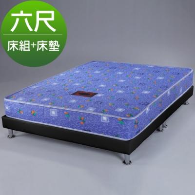 Homelike 蒂曼印花獨立筒床組-雙人加大6尺(二色)