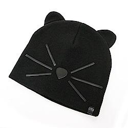 KARL LAGERFELD 黑色尼龍貓咪帽