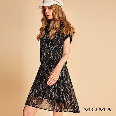 MOMA 長頸鹿雪紡襯衫洋裝