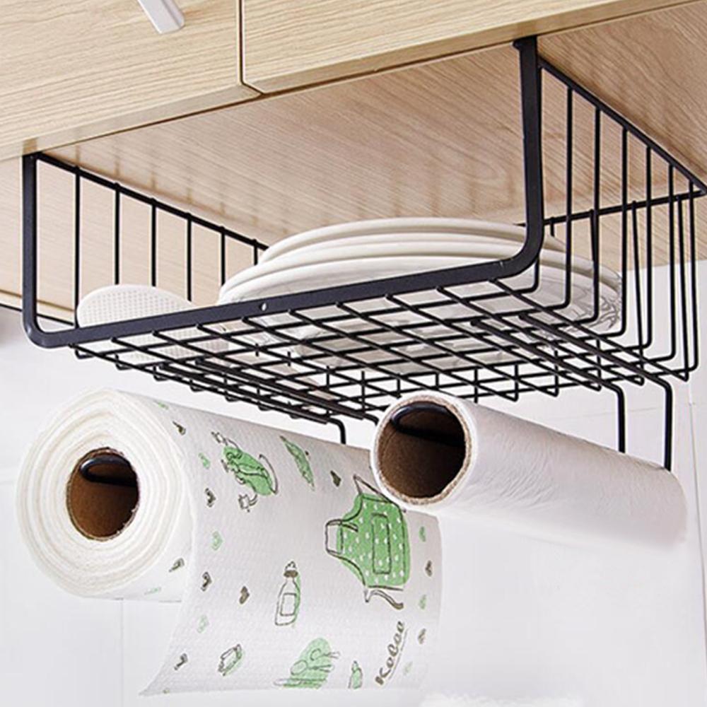 E-dot 鐵藝櫥櫃紙巾雜物收納架(二色)