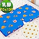 奶油獅 同樂會系列-100%精梳純棉布套+馬來西亞天然乳膠嬰兒床墊-宇宙藍70X130cm product thumbnail 1