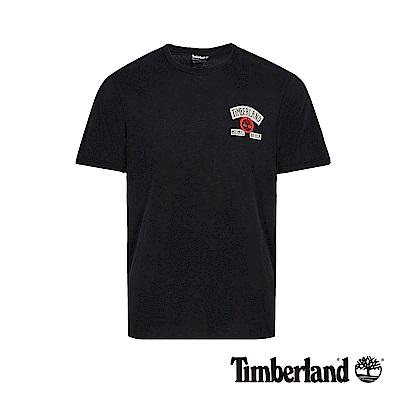 Timberland 男款黑色字母LOGO撞色短袖T恤|A1W78
