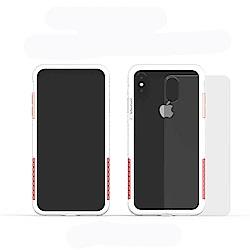 Telephant太樂芬 NMD iPhone XS MAX 白-配玫瑰(附背蓋)