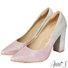 Ann'S愛莎女王-漸層色調高跟尖頭婚鞋-粉