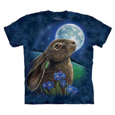 摩達客-美國The Mountain 兔子望月 純棉環保短袖T恤