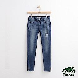 Roots -女裝- DENIM - 九分修身褲 - 藍