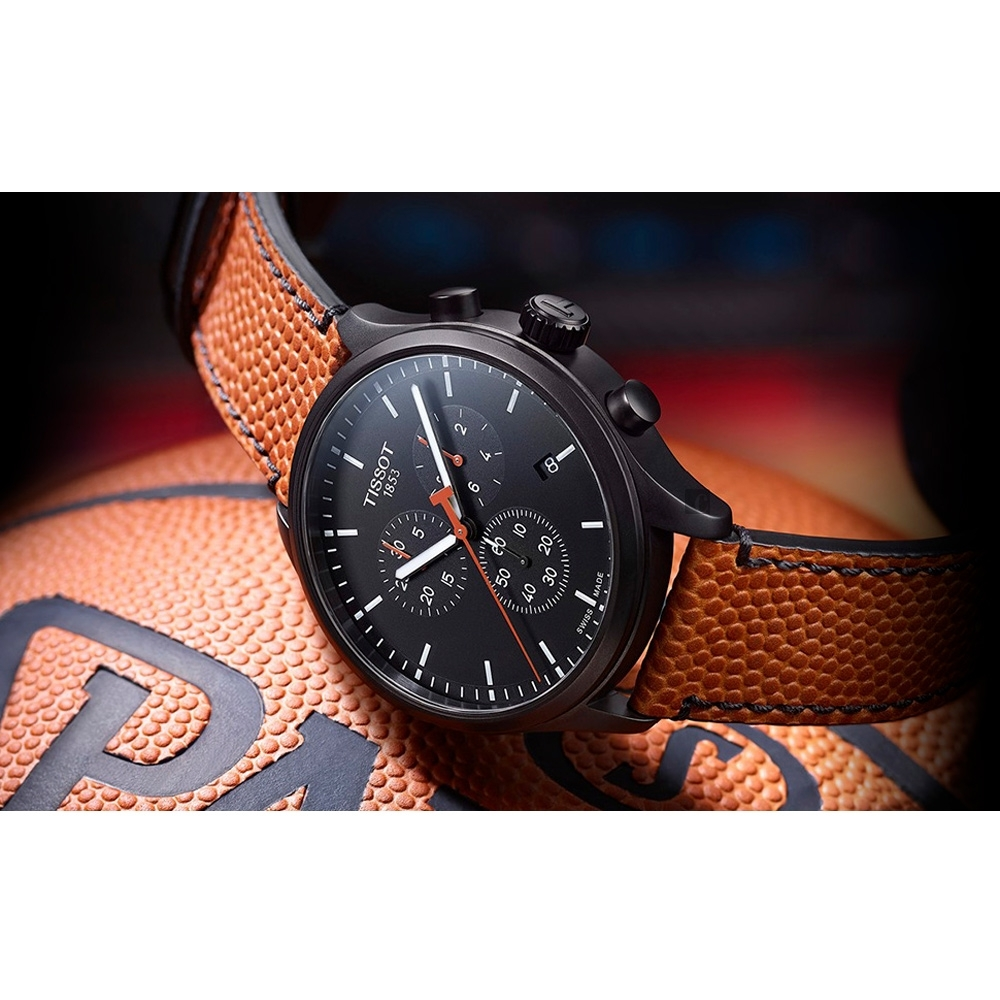 TISSOT天梭 XL NBA 特別版計時手錶-45.5mm  T1166173605112