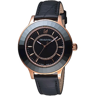 SWAROVSKI施華洛世奇Octea Lux現代時尚腕錶(5414410)-黑