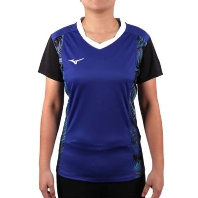MIZUNO 2017企業排球聯賽 女排球短袖上衣-T恤 短T 企排 美津濃 藍白黑