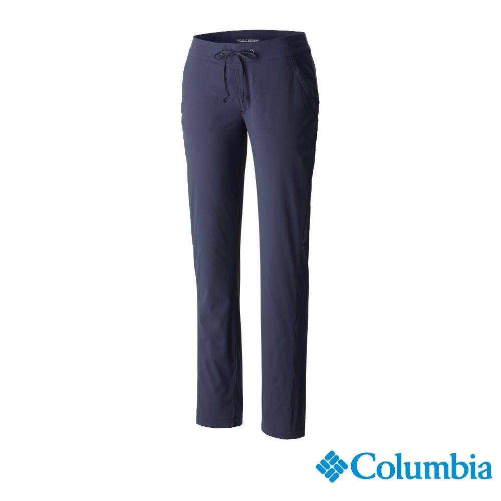 Columbia 哥倫比亞 女款- 女防曬50防潑長褲-棕綠 UAK04820