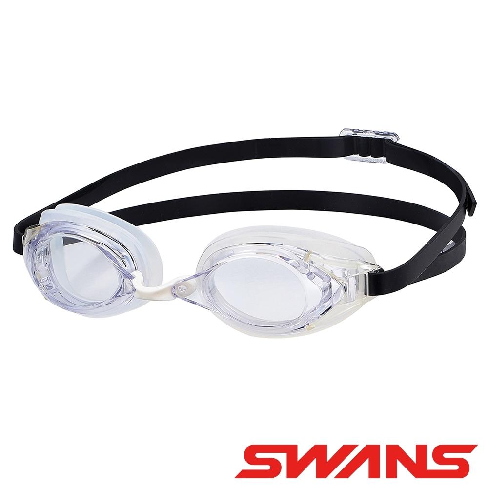 【SWANS 日本】光學通用型泳鏡(防霧/抗UV/矽膠/SR-2N透明)