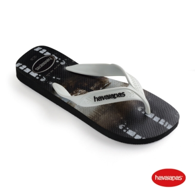 Havaianas 哈瓦仕 拖鞋 夾腳拖 人字拖 衝浪 巴西 男鞋 黑/白/黑 4000047-4747M Surf