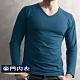 豪門PROMAN速熱暖絨V領長袖衫-外搭帥氣又保暖-M1860V-普魯士藍 product thumbnail 1