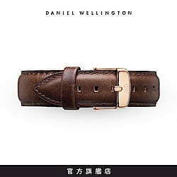 DW 錶帶 18mm金扣 深棕真皮皮革錶帶