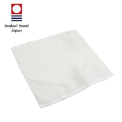 日本今治 輕柔蓬鬆無撚紗素色方巾(雪白)