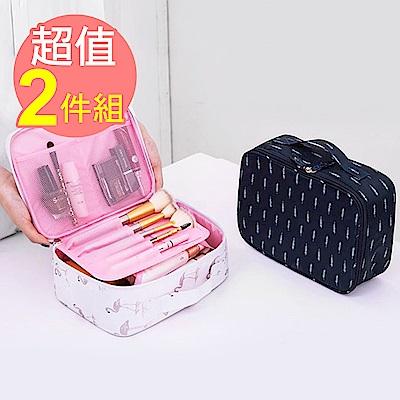 【暢貨出清】JIDA 300D小清新加厚防震防潑水旅行化妝收納包/A款(2入)