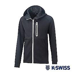 K-SWISS Traning Zip Up運動外套-男-黑
