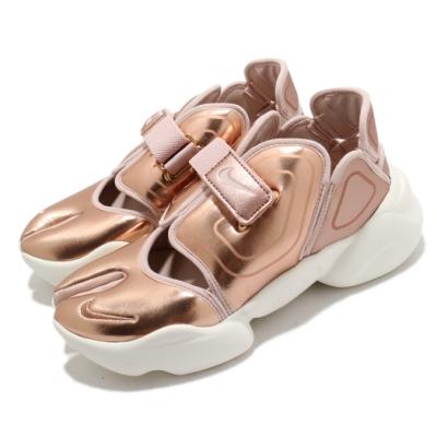 Nike 休閒鞋 Aqua Rift 穿搭 女鞋 海外限定 忍者鞋 舒適 輕便 玫瑰金 米白 CW5875929
