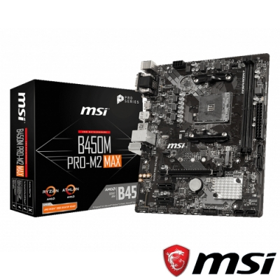 MSI微星 B450M PRO-M2 MAX 主機板