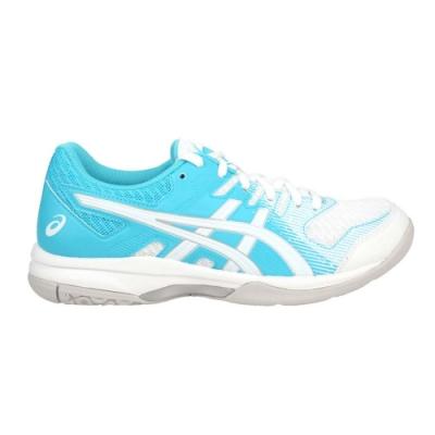 ASICS GEL-ROCKET 9 女排羽球鞋-訓練 亞瑟士 排球 羽毛球 1072A034-104 白白水藍