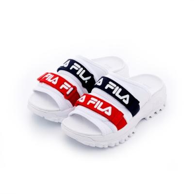 FILA 女拖鞋-白/丈青 5-S630T-125