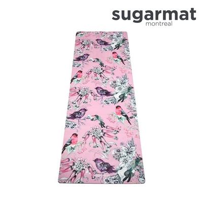 加拿大Sugarmat 麂皮絨天然橡膠加寬瑜珈墊(3.0mm) 帕克西尼幻想  Bird Fantasy Suede