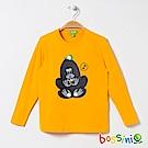 bossini男童-印花長袖T恤05深黃