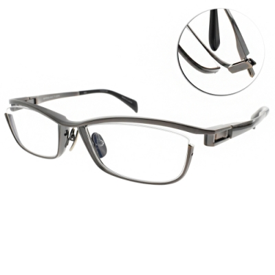 JAPONISM  光學眼鏡 金屬流線設計款/槍棕 #JP033 C03