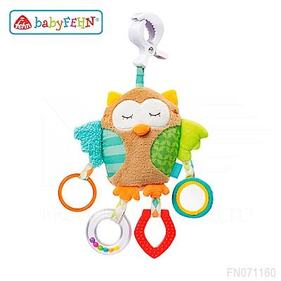 【任選】德國《baby FEHN 芬恩》沉睡森林貓頭鷹吊掛式布偶玩具