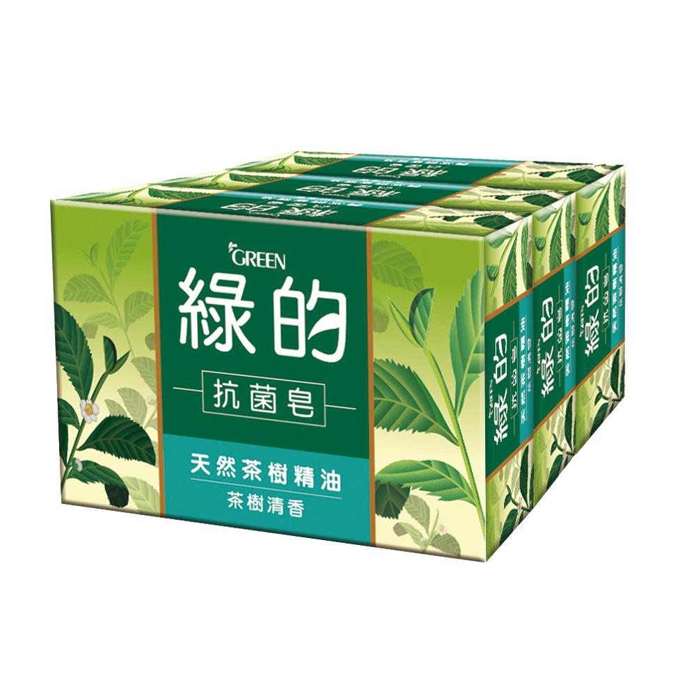 綠的GREEN 抗菌皂-茶樹清香100g*3入組