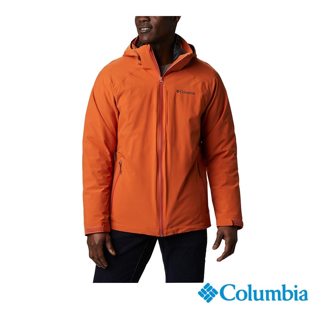 Columbia 哥倫比亞 男款 - Omni-Tech防水鋁點保暖650羽絨兩件式外套-橘黃 UWE11570OY