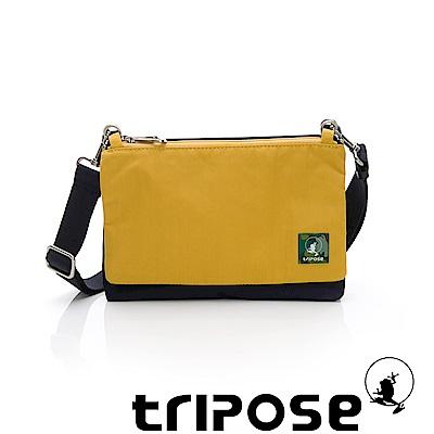 tripose MAJI系列藍迷彩x亮彩黃多變斜背包