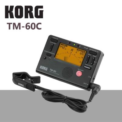KORG TM-60C調音節拍器+調音夾線/功能齊全/黑