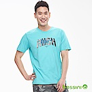 bossini男裝-印花短袖T恤21藍綠