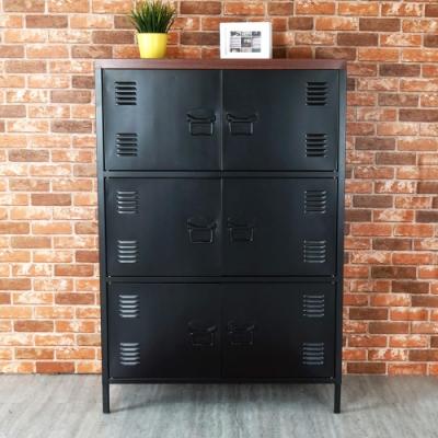 Homelike 米特工業風鋼製六門置物櫃-免組裝