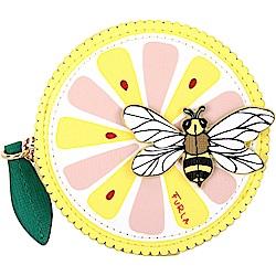 FURLA GOLOSA 檸檬蜜蜂造型皮革零錢包