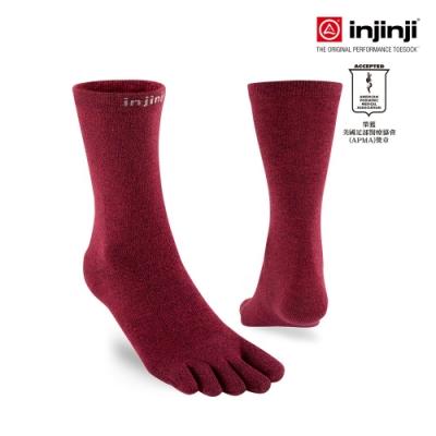 【INJINJI】LINER中筒內襪[酒紅色]